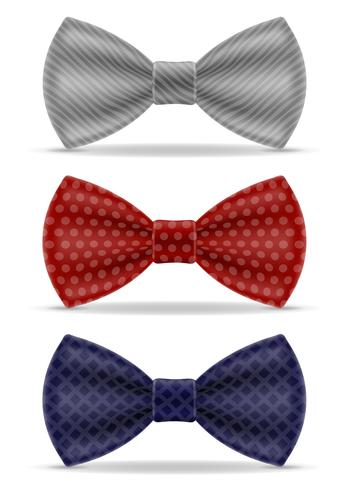 bow tie for men a suit vector illustration