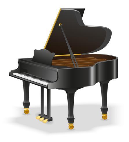grand piano musical instruments stock vector illustration