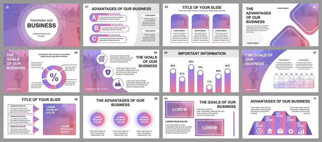 Apresentação de negócios slides modelos de elementos de infográfico. Pode ser usado para o modelo de apresentação, panfleto e folheto, brochura, relatório corporativo, marketing, publicidade, relatório anual, banner.