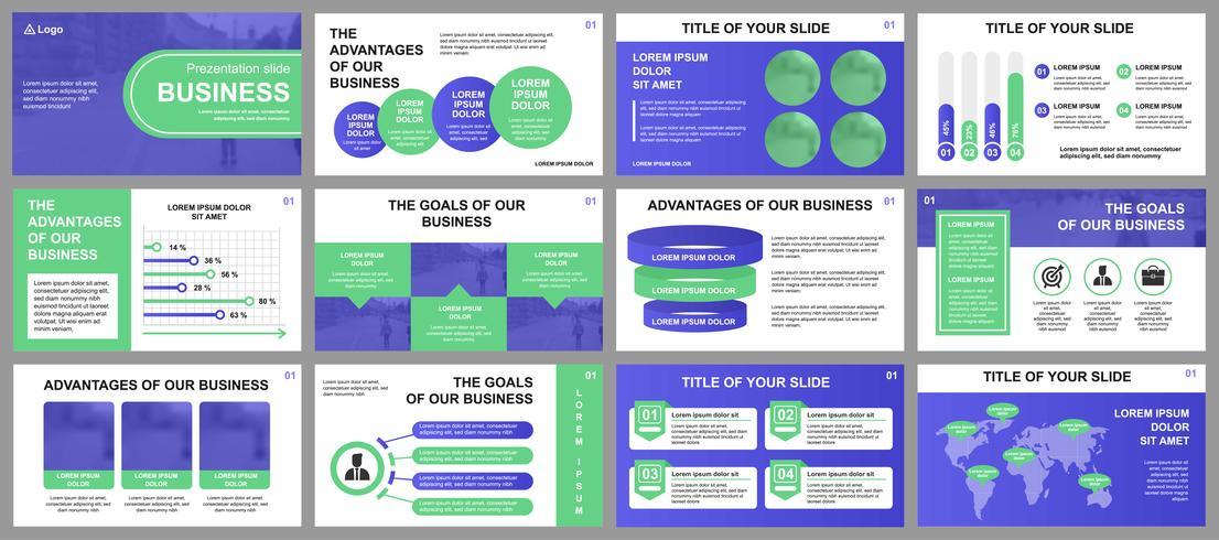 Presentación de negocios de plantillas de diapositivas a partir de elementos infográficos. Puede ser utilizado para la plantilla de presentación, folleto y folleto, folleto, informe corporativo, marketing, publicidad, informe anual, banner. vector