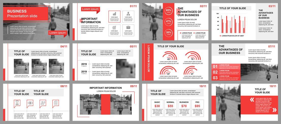 Presentación de negocios de plantillas de diapositivas a partir de elementos infográficos. Puede ser utilizado para la plantilla de presentación, folleto y folleto, folleto, informe corporativo, marketing, publicidad, informe anual, banner.