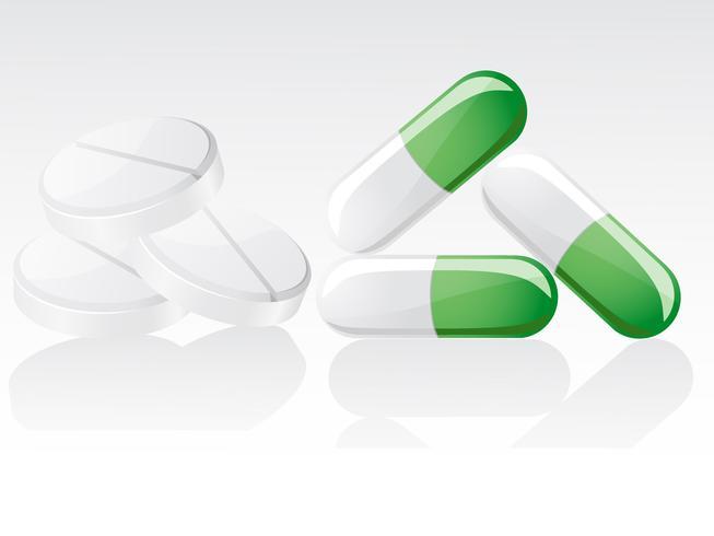 ilustração vetorial de comprimidos