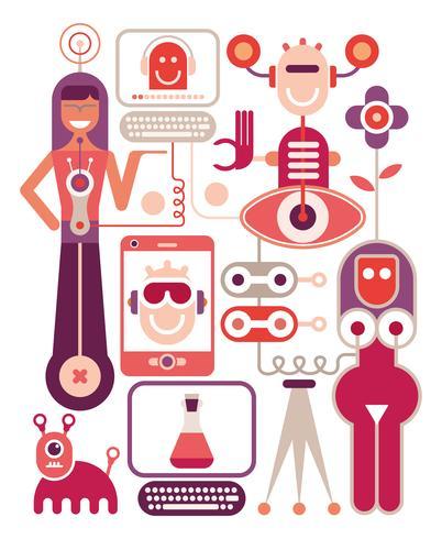 Human performance lab - vector illustration