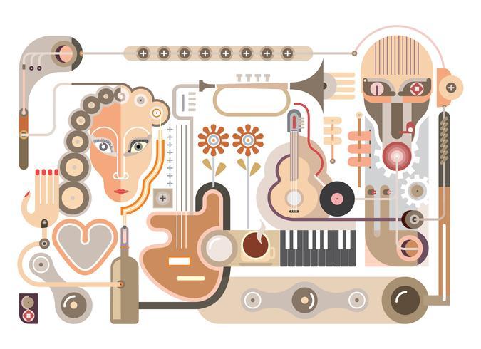 Muziek - vectorillustratie