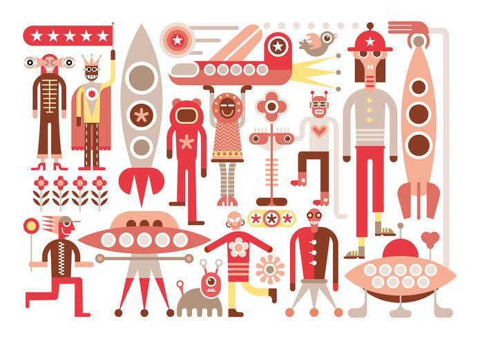 Menschen und Aliens