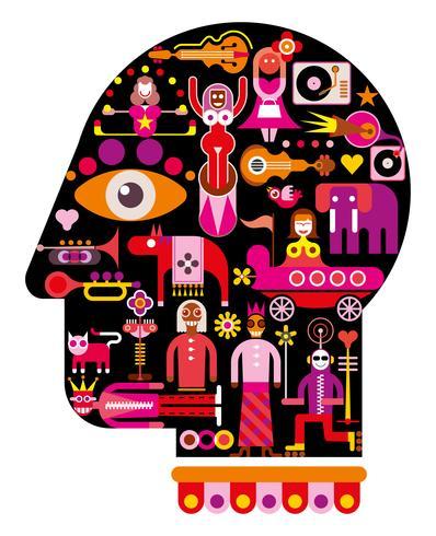 Circus Head - vector illustration