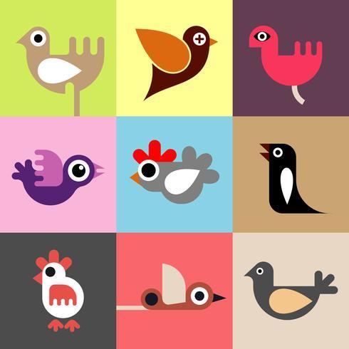 Vogels vector behang