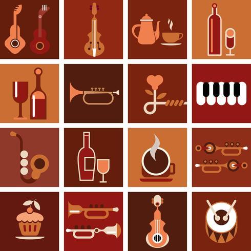Café de música - ilustração vetorial