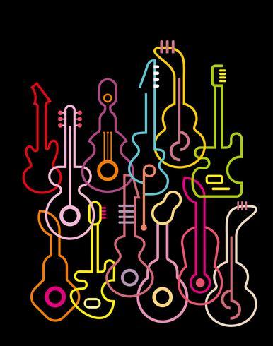 Chitarre - illustrazione vettoriale