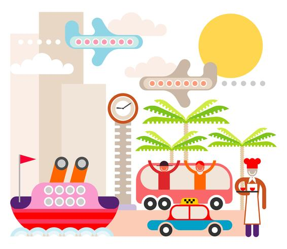 Resort - vector illustration