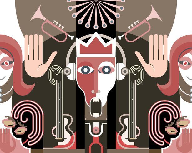 Re della musica - illustrazione vettoriale