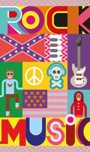 Rock muziek poster