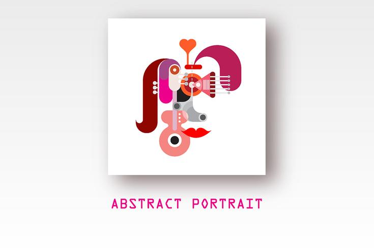 Abstract vector portret