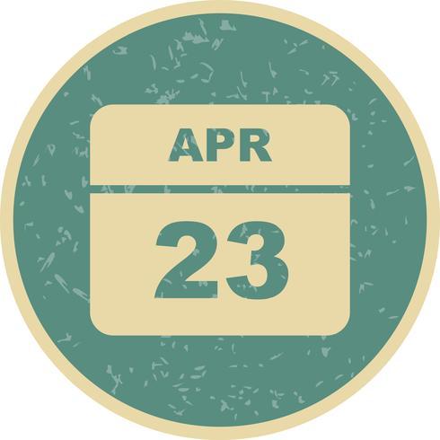 23 april Datum op een eendaagse kalender