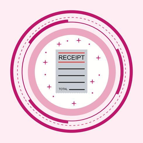 Receipt Icon Design