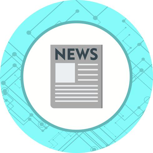 News Paper Icon Design vector
