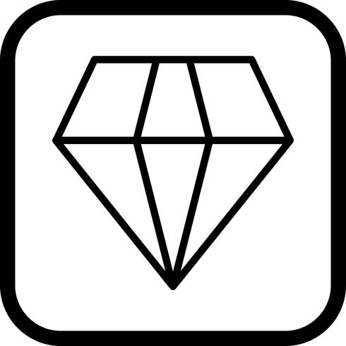 Diseño de icono de diamante
