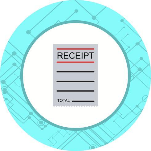 Receipt Icon Design vector