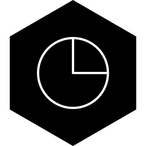 cirkeldiagram ikon design vektor