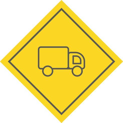 Conception d'icône de camion vecteur