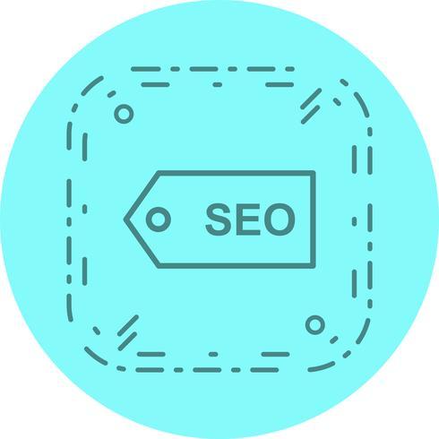 SEO Tag Icon Design vector
