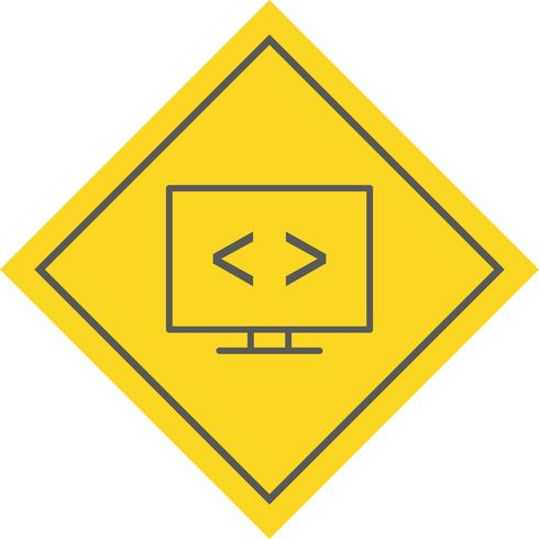 Optimización de código Icon Design vector