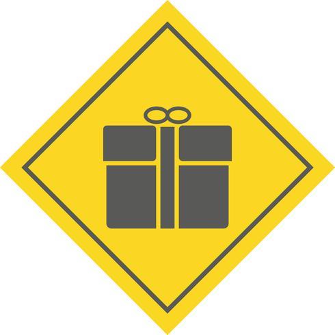 Geschenk-Icon-Design vektor