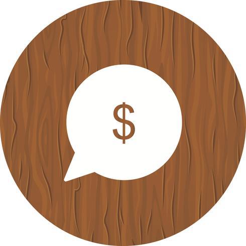 Skicka pengar ikondesign vektor
