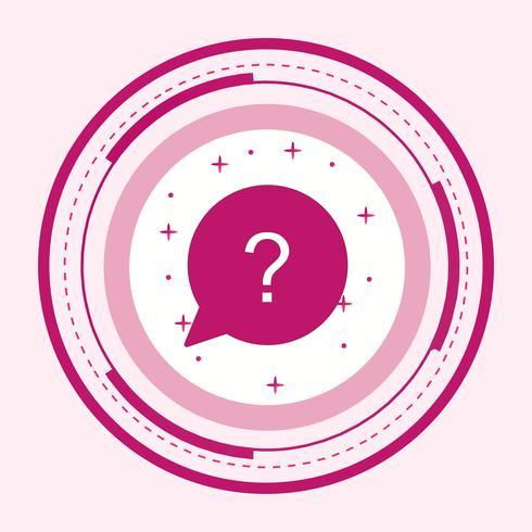 Question Icon Design vector