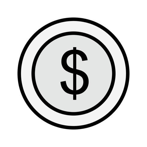 Dollars Coin Icon Design vector