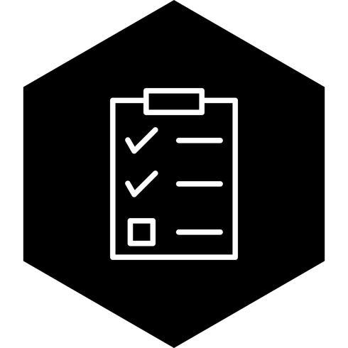 Checklista Icon Design vektor