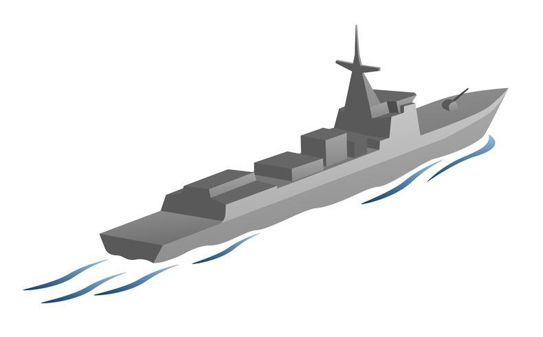 Marine Kriegsschiff Vektorgrafik