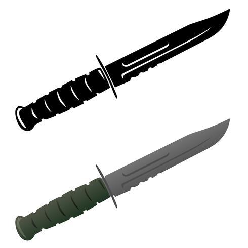 Illustrazione di vettore del coltello di sopravvivenza