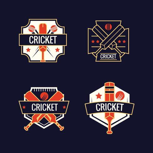 Set of Cricket Sports Logos
