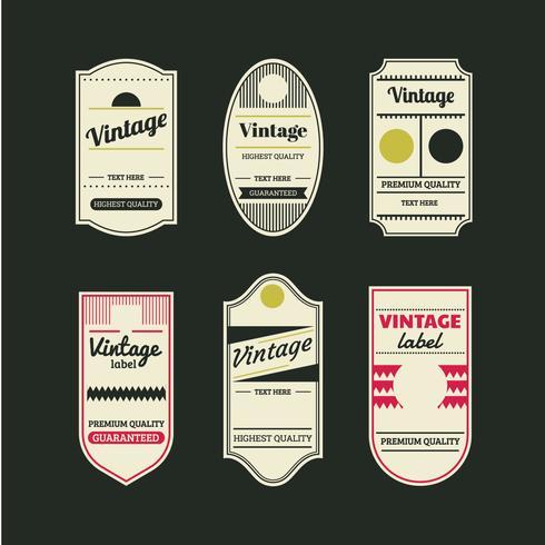 Vintage Retro Etiketten und Tags