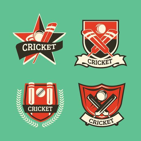 Set di logo Vintage Cricket
