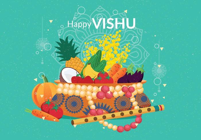 Vetor de ilustração de Vishu