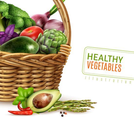 Merce nel carrello sana delle verdure