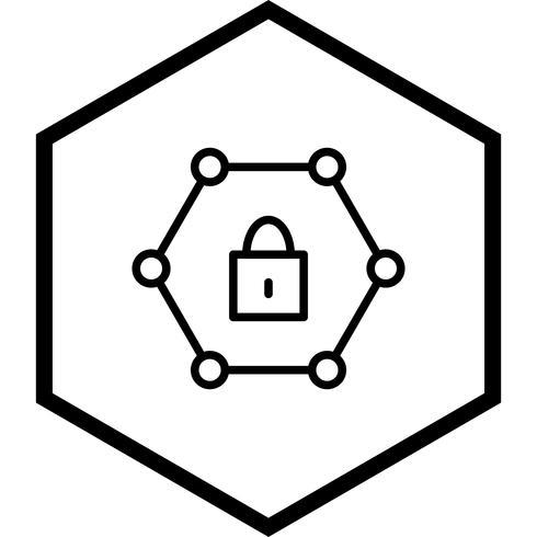 Design de ícone de rede protegida
