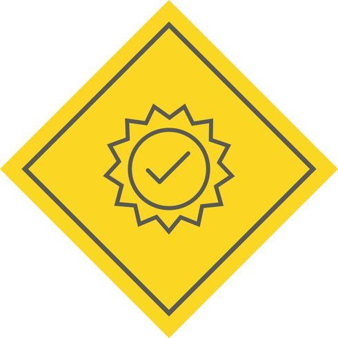 Valid Stamp Icon Design vector
