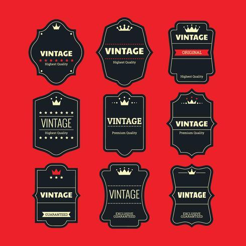 Vetor definido Retro ou Vintage rótulos