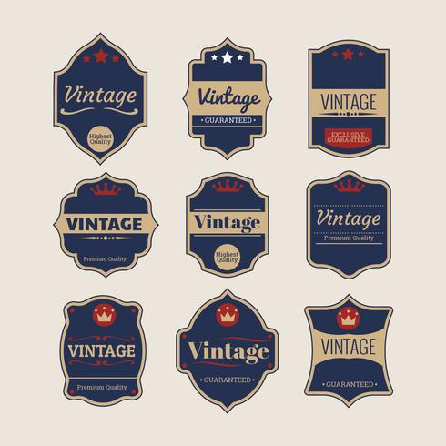 Collection of Retro or Vintage Labels