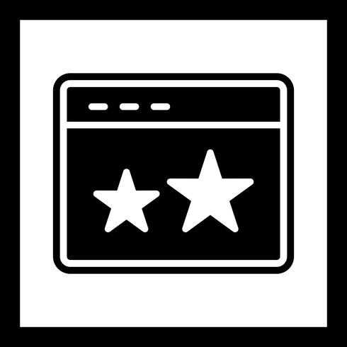 Starred Icon Design vector