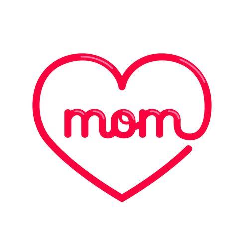 Heart Mom Typography