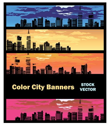 Color city banner