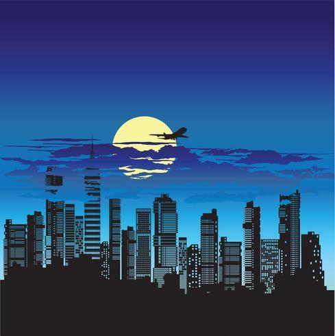 Silhuett av staden
