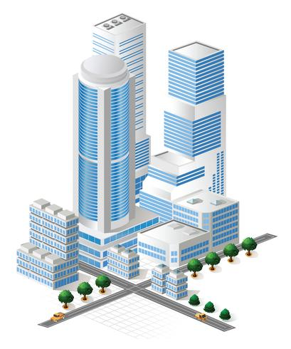 Vector hoge gebouwen