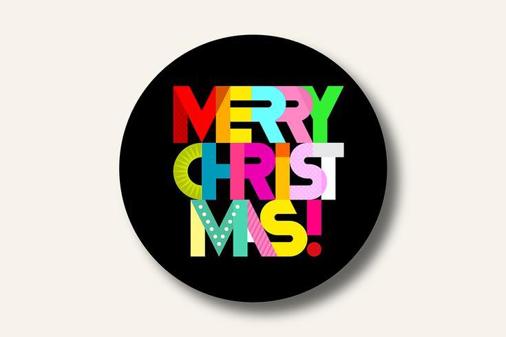 Feliz Natal texto redondo composição