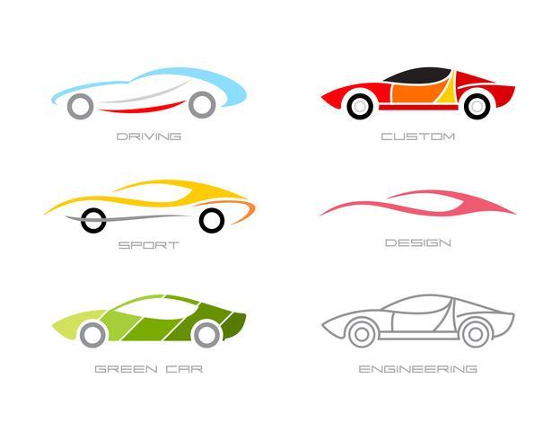 Modern bil vektor ikoner