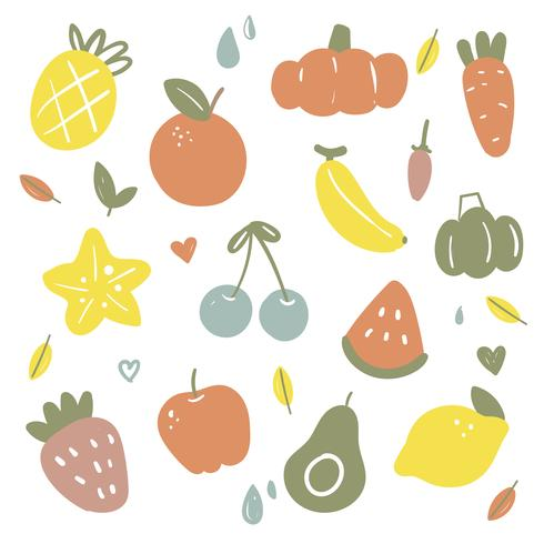 fruit vector collectieontwerp